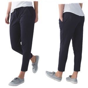 LULULEMON Jet Crop Slim Denim Luon Naval Blue Pant